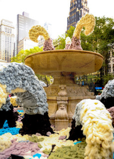 Bryant Park Wool Fountain